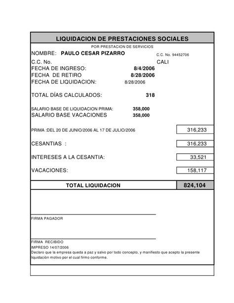 prestaciones sociales gerenciecom nomina y liquidaciones