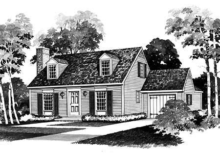 Cape Cod House Plans With Attached Garage by Economical Home Plan With Great Appeal Cape Cod 2