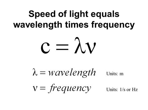 wavelength and frequency of light electrons energy and light waves ppt
