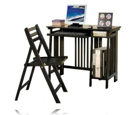 Computer Desk And Chair Set by New Black Finish Wood Computer Desk And Chair Set