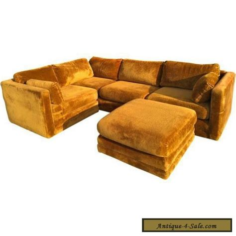 brown couches for sale mid century vintage 70 s velvet rustic brown sofa for sale