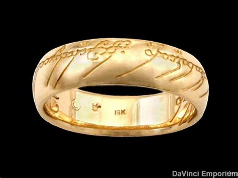 lord of the rings wedding band 18k yellow gold the one