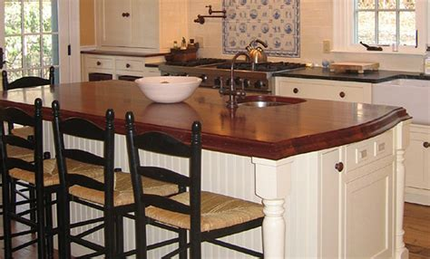 Countertop For Island by Mahogany Wood Countertop Kitchen Island In Massachusetts