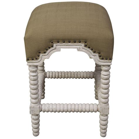Noir Abacus Counter Stool by Noir Abacus Counter Stool White Wash