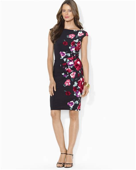 Givenchy Poppy 316 3in1 1 Lyst Ralph Petites Dress Floral Print