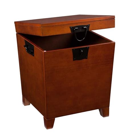 southern enterprises pyramid storage trunk end table in