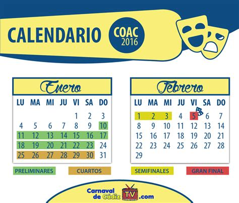 Calendario Carnaval 2016 Carnaval 2016 Calendario Calendar Template 2016