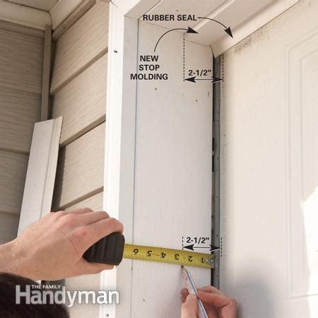 cost to install new garage door fixing garage doors the family handyman