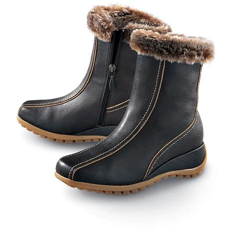 sporto snow boots womens s sporto 174 camille pull on boots brown 120730