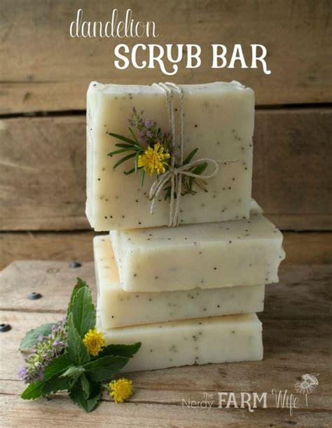 dandelion scrub bar soap recipe palm free perfect for gardeners soap making pinterest