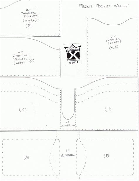 wallet template the grain side up new front pocket wallet design pattern