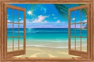 Wall Mural Beach Scene beach window scene murals