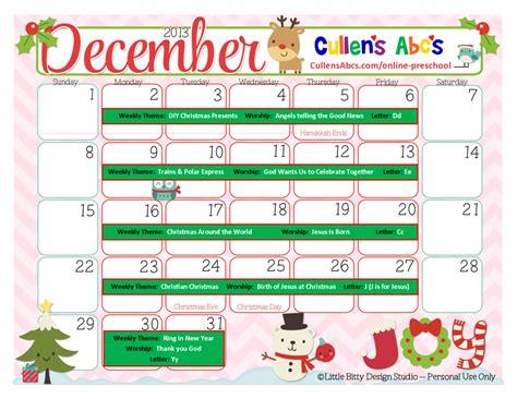 kindergarten themes december preschool calendars christian children activities
