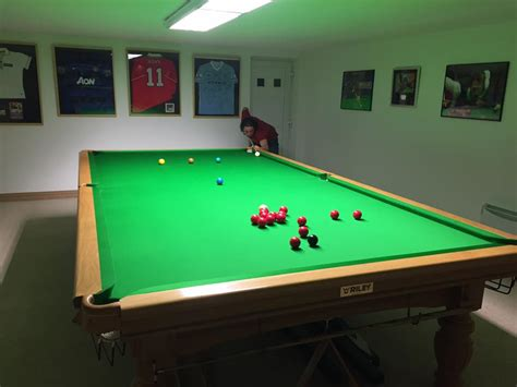 full size professional pool re install full size snooker table after flooding in