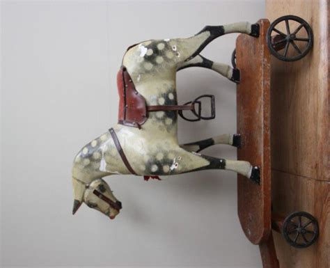 antiques atlas horse folk art pull along childs german antiques atlas edwardian antique childs pull a long horse