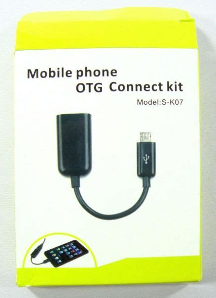 Otg Connect Kit Model S K07 mobile phone otg connect kit micro usb host s k07 for samsung galaxy s2 s3 note note 2