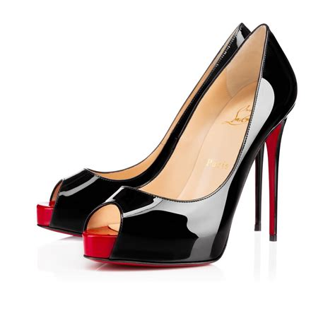 Shoes Christian Louboutin Po188 new prive 120 black patent leather shoes