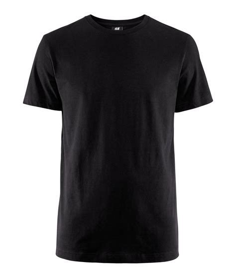 H M Basic Black Dress T3010 1 h m basic t shirt in black for lyst