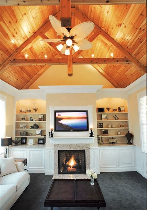 Fireplace Vaulted Ceiling by Fireplace Creative Home Ideas