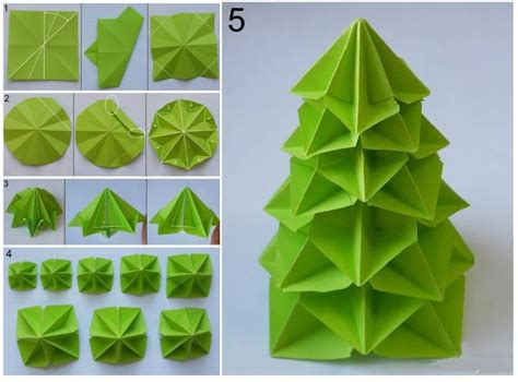 How To Make Craft Paper - how to make paper craft origami tree step by step diy