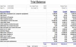 trial balance enapps