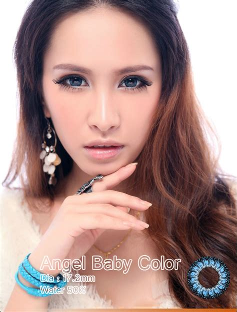 Baby Colour 172mm Free Lenscase softlens baby color blue 17 2mm softlens