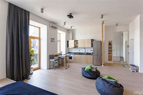 studio appartment open studio apartment in kiev by fild homedsgn