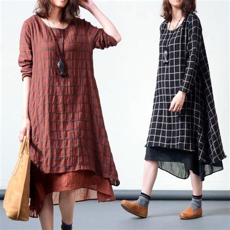 Dress Casual Putih Motif Kotak Korean Style 200 best images about s dresses on cotton linen linen dresses and sleeve