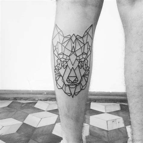 geometric leg tattoos 49 superb geometric tattoos on leg