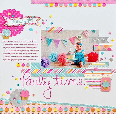layout design for birthday doodlebug designs inc sugar shoppe birthday girl layout