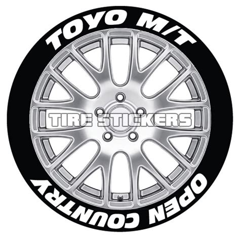 Toyo Open Country Tire Sticker Tire Letter Tire Graphic Stiker Ban toyo open country m t road maximum traction tire stickers