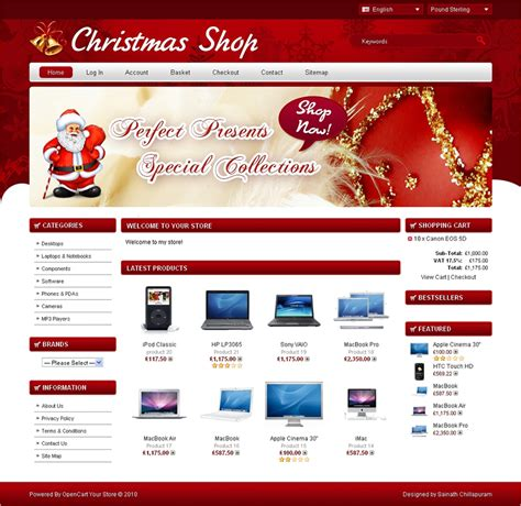 christmas ecommerce website themes templates creative