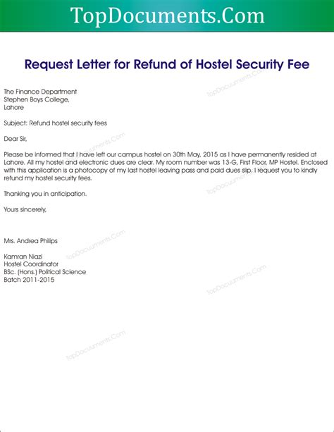 sle letter for cancellation of admission letter for cancellation of admission and refund of fees