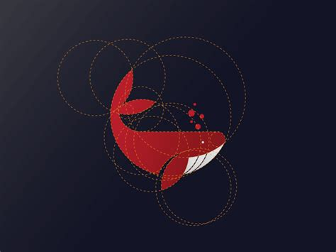 javascript golden layout whale logo design with golden ratio by dainogo dribbble