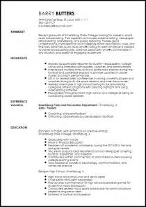 free entry level radio host resume template resumenow