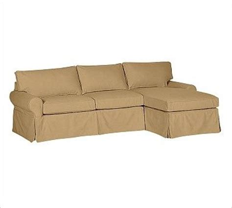 2 piece sectional slipcovers pb basic left 2 piece with chaise sectional slipcover