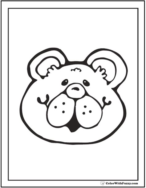 teddy bear head coloring page teddy bear coloring pages for fun
