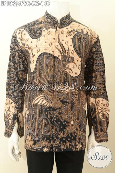 coleksi baju sianghai koleksi baju batik pria lengan panjang krah shanghai motif