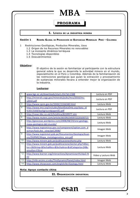 Mba Centrum O Esan by Syllabus Financiamiento De Miner 237 A Global