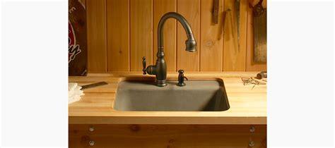 kohler glen falls sink glen falls under mount utility sink w two faucet holes