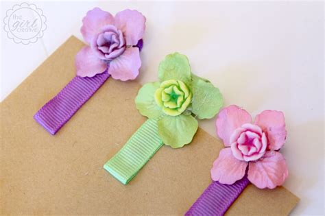 Handmade Hair Clip - easy diy hair the creative