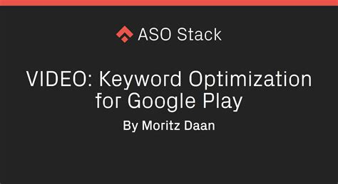 Play Store Keywords How To Do Keyword Optimization For The Play Store