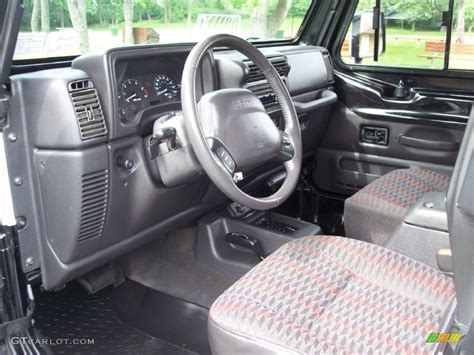 jeep wrangler upholstery 2000 jeep wrangler sport 4x4 interior photo 65948954