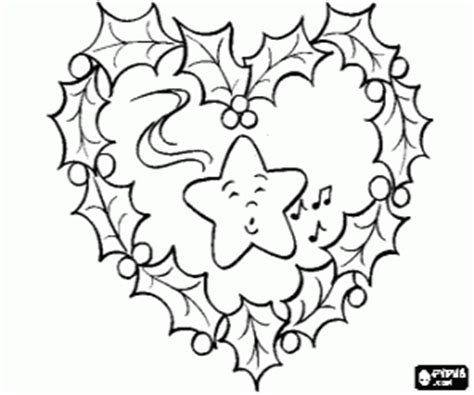 christmas heart coloring page christmas wreaths and garlands coloring pages printable