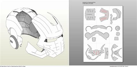iron helmet template iron foam armor templates free template design
