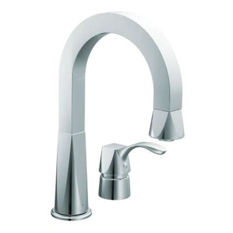 moen divine single handle kitchen faucet in chrome cas658 the home depot