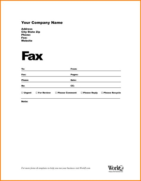 7 blank fax cover sheet template word cashier resumes