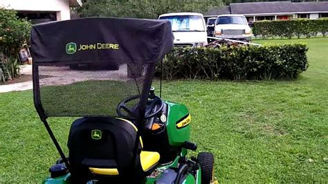 deere l shade lawn mower canopy the below tractor canopies and
