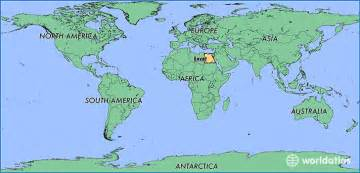 Egypt On World Map by Where Is Egypt Where Is Egypt Located In The World