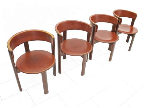 set of 4 dining room chairs set of four leather walnut dining room chairs by cassina